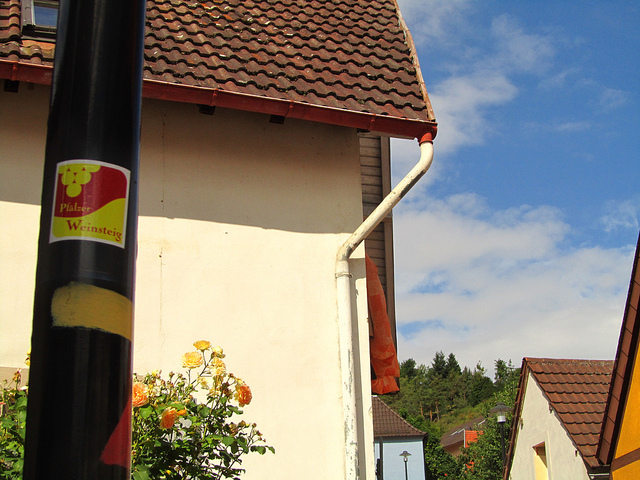 """hiking trail markings to follow in the Wachenheim trail in the Palatinate"""