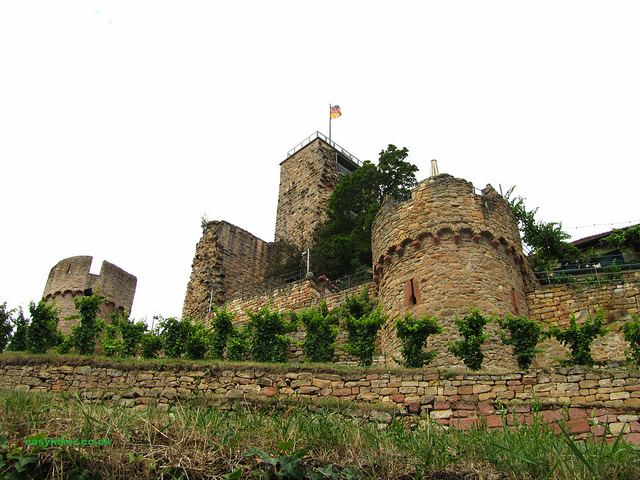 """Wachenheim Castle near Bad Duerkheim in the Palatinate"""