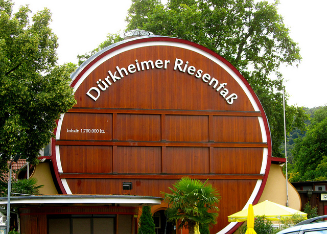 """The largest wine barrel in Bad Dürkheim in the Palatinate in Germany"""