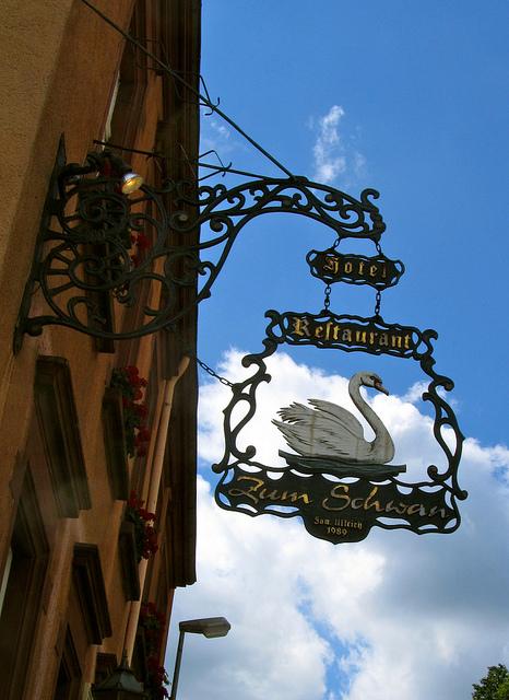 """""""Facade of Hotel Zum Schwan in Waldfischbach in the Palatinate"""""""
