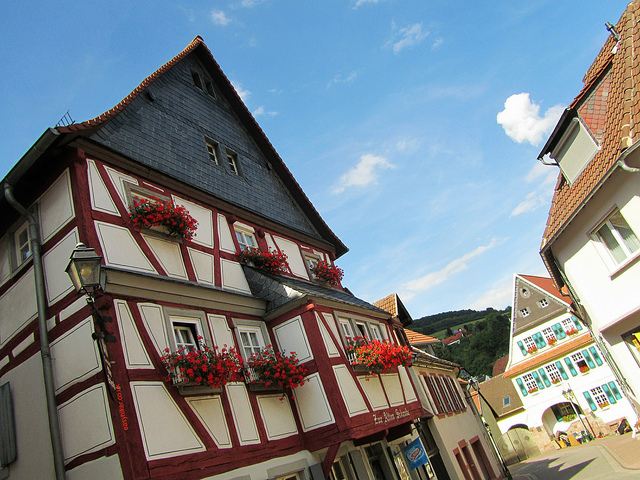 """Timber-framed houses in Wolfstein in the Palatinate"""