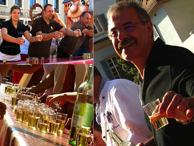 """Scenes of a wine festival in Speyer Germany """