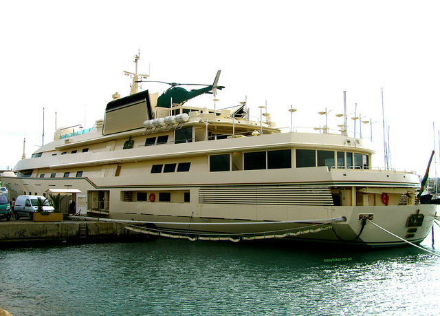 """Kingdom 5KR yacht moored in Antibes"""