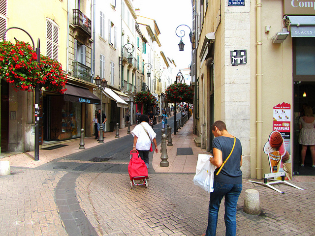 """Main shopping street - We are in Antibes now"""