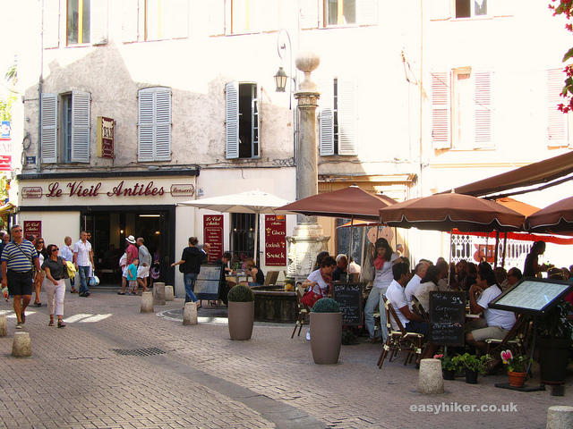 """Part of the old town of Antibes in the Cotes d'Azur"""