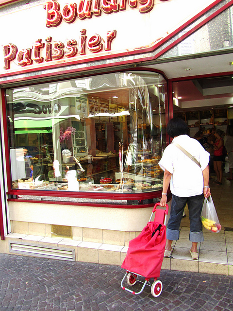 """A patisserie/boulangerie to show that we are in Antibes finally"""