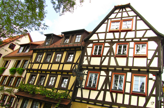 """Timbre-framed houses in Neustadt Germany"""