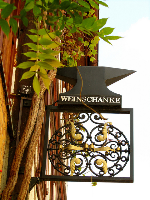 """A sign for a Weinstube in Neustadt Germany"""