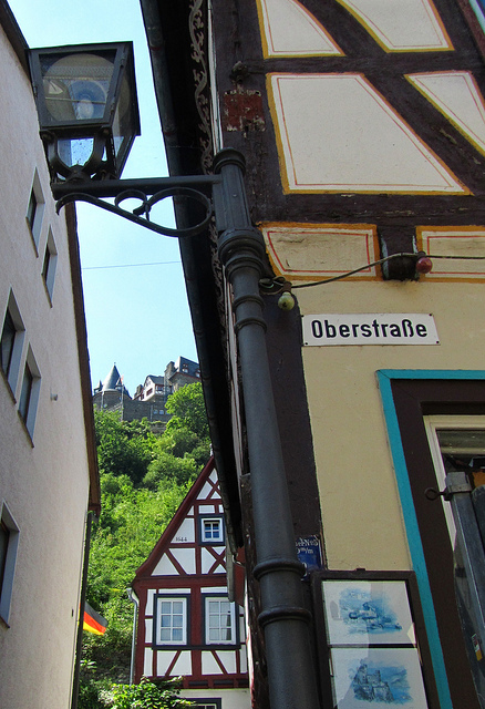 """A side street in Bacharach Germany"""