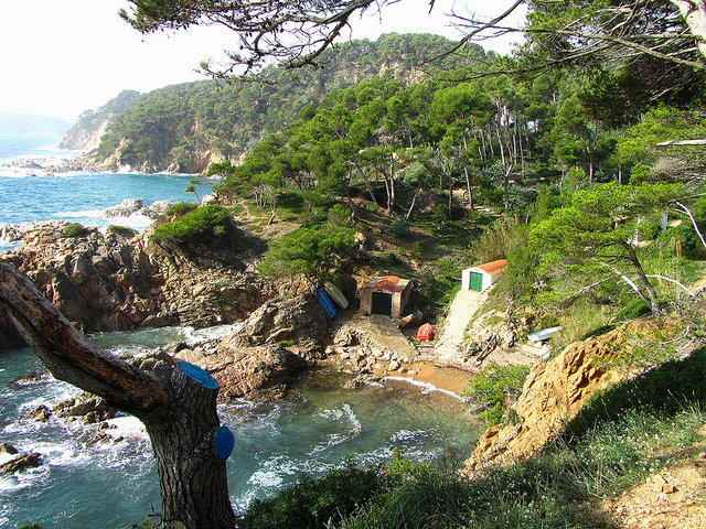 """An old cove along the Cami de Ronda in the real Costa Brava"""