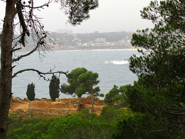 """Remains of an old Roman settlement along the Cami de Ronda in the real Costa Brava"""