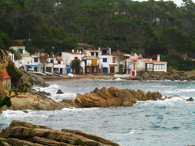 """S'Alguer, fishing village along the Cami de Ronda in the Costa Brava"""