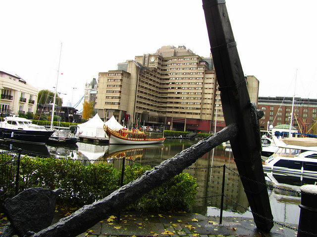 """St Katharine's dock among the ghosts of London past"""