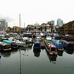 """The Limehouse Basin in London"""