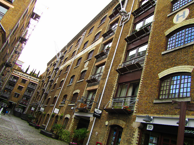 """Old housing along the docklands among the ghosts of London past"""