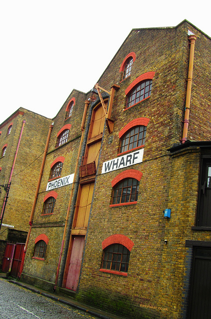 """An old dock warehouse in the London Docklands among the ghosts of London past"""