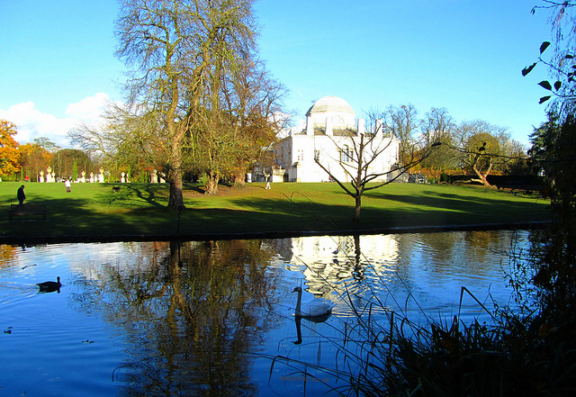 """Chiswick House seen from the back garden"""