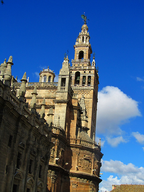 """The Giralda tower in  Seville"""