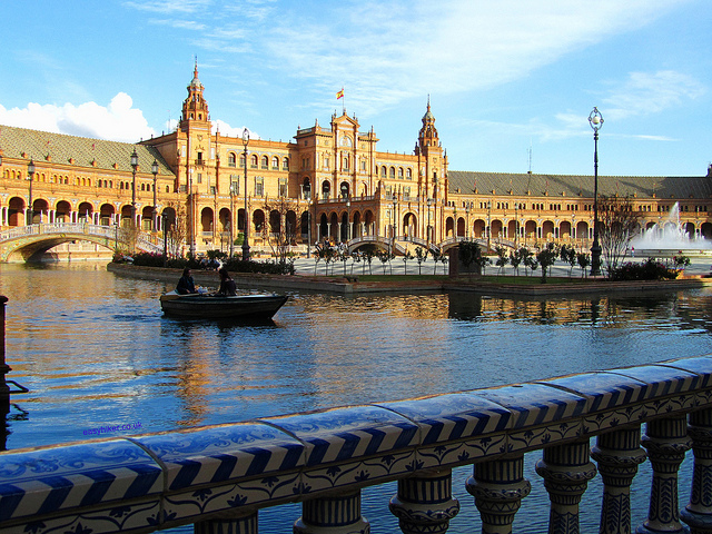 """Smitten by Seville with the Plaza de España"""