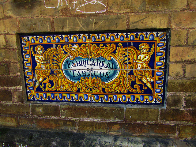 """Fabrica Real de Tobaco of Sevilla showing moorish influence"""