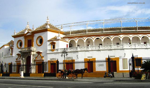"""The bullring Plaza de Toros de las Maestranza of Seville"""