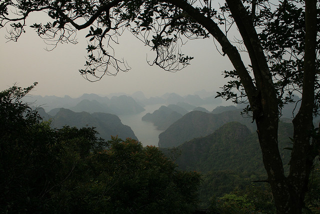 """View from a hiking trail in Vietnam for hikers by Matt J. Kelley"""