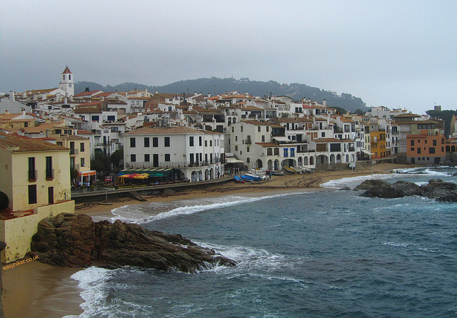 """Calella de Palafrugell seen from the approach of town"""