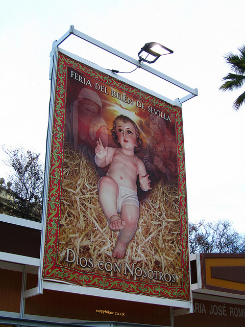"""Feria del Belen sign in Seville, a different Christmas market"""