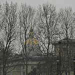 """Les Invalides in Paris in wintry haze"""