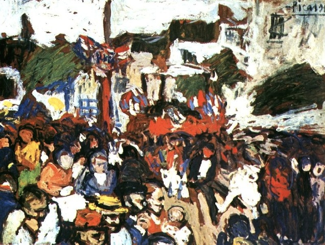 """14th of July celebrations in Montmartre as seen by Picasso"""