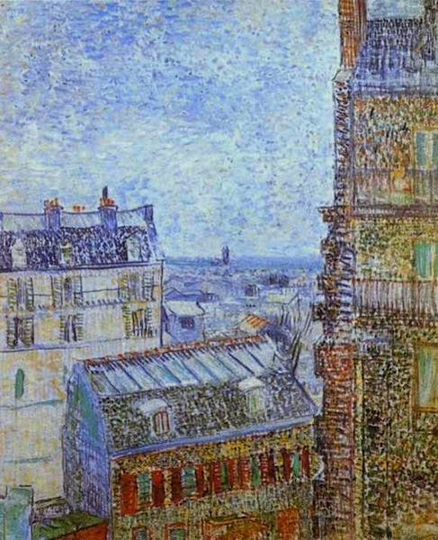 """Themed Paris urban walk in Montmartre - Van Gogh View from Vincents Room Rue Lepic"""