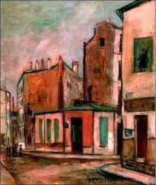 """Maison Rose by Utrillo in Montmartre"""