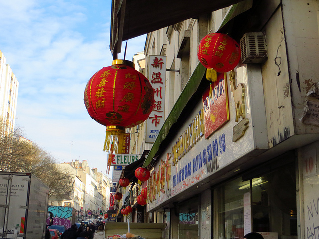 A Paris urban walk in  the Belleville of Edith Piaf with its Chinese shops and restaurants""