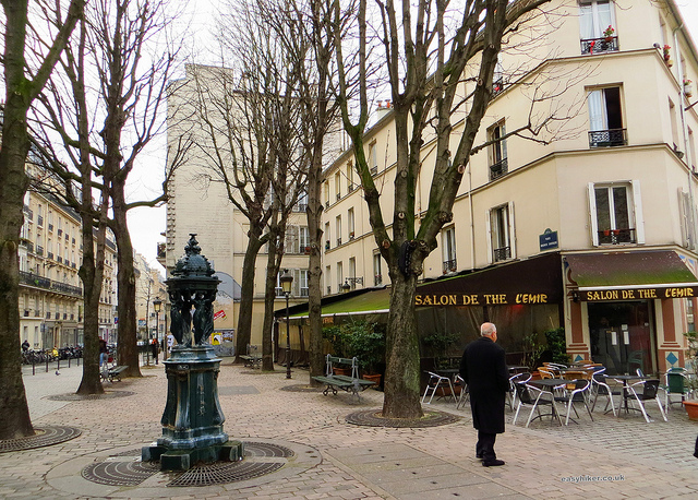 """Cafe in the Belleville of Edity Piaf where Maurice Chevalier started as a singer"""
