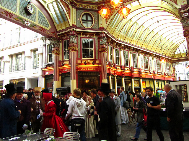 """Inside Leadenhall Market in London for those exploring London on foot to stop at"""
