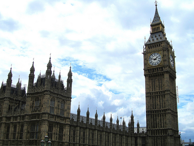 """Big Ben by the House of Parliament in London"""