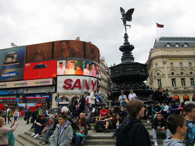 """Eros Piccadilly Circus London"""