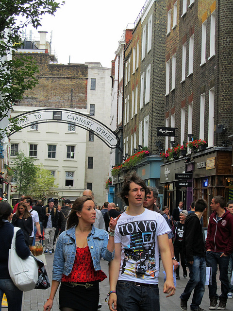 """Carnaby Street in SoHo London"""