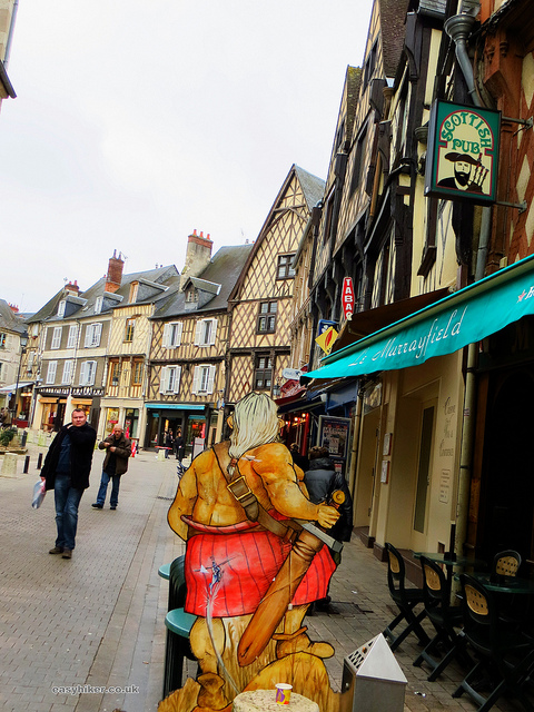 """Town centre of Bourges a pretty french provincial backwater """