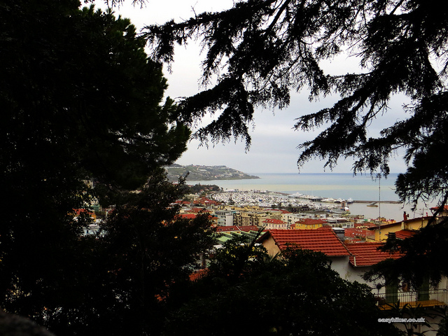 """old town of Sanremo seen from the hilltop"""