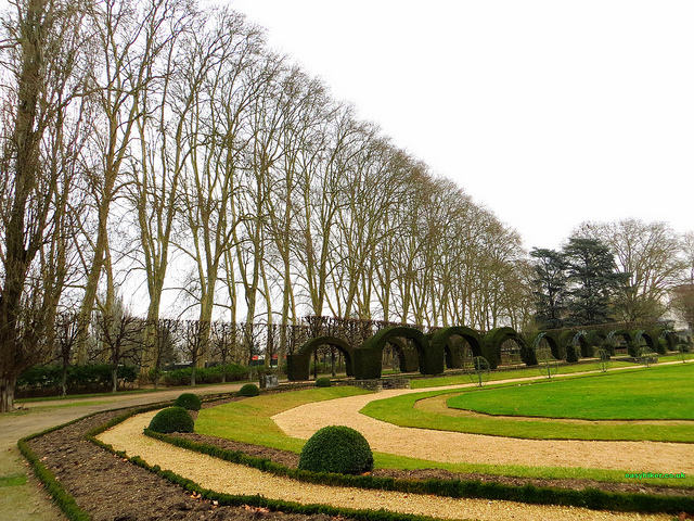 """A mix of style in one of the French gardens in Bourges"""