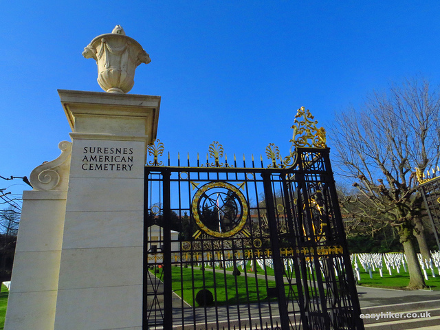 """A Cemetery - an American  war cemetery in Mont Valerien near Paris"""