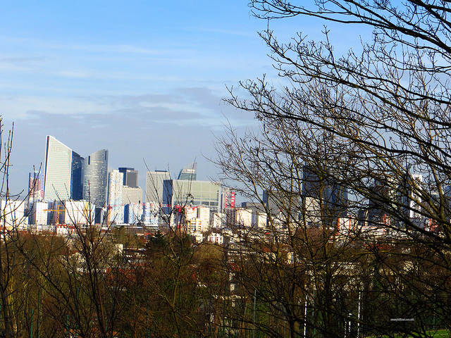 View of La Defense from Mont Valerien