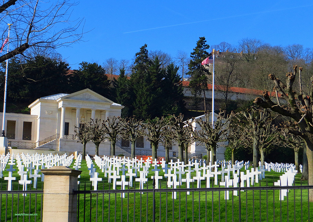 """A memorial - an American war cemetery memorial in Mont Valerien near Paris"""