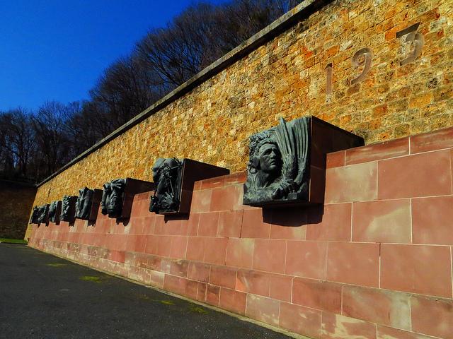 """Statues in the Memorial de la France Combattante in Suresne near Paris"""