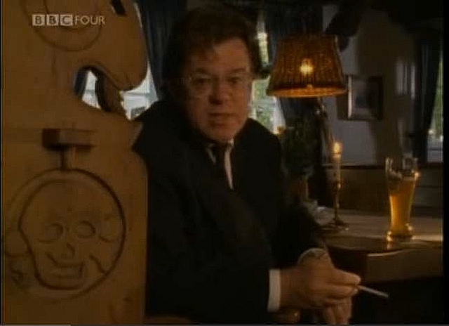 """Meades presenting his documentary Jerry Building"""