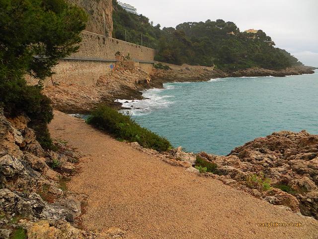 """Part of Dragonniere trail in Roquebrune Cote d'Azur"""