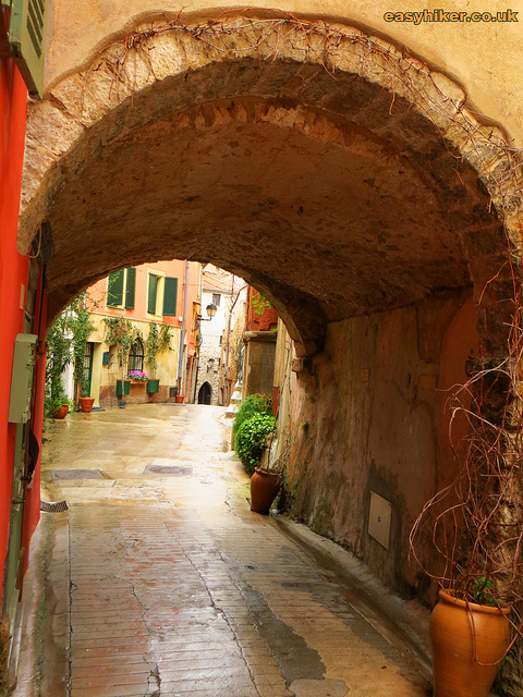 """Old town of Roquebrune in the French Riviera"""