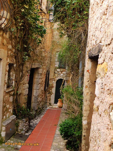 """Narrow alleys of Eze Village walked by Eze Hiker """
