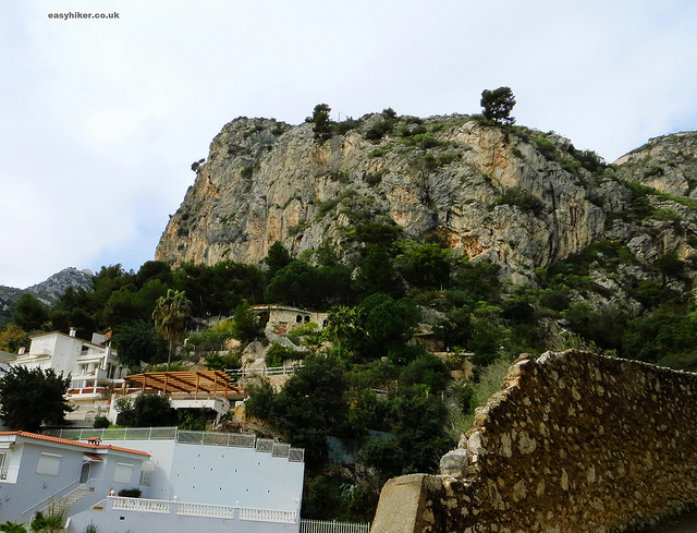 """The Eze hill, for the Eze Hiker, with the Eze Village atop it in the Cote d'Azur"""